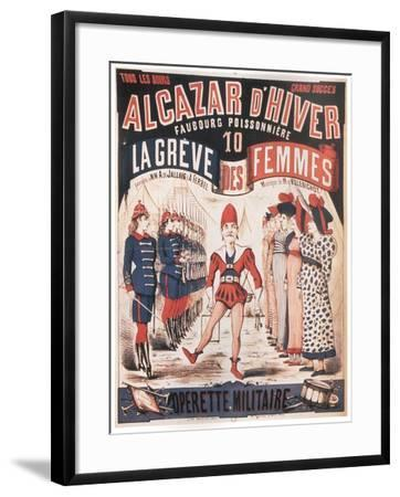 Poster for the Operetta La Grêve Des Femmes by A. De Villebichot, 1879-1880-Charles Lévy-Framed Giclee Print