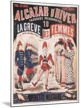 Poster for the Operetta La Grêve Des Femmes by A. De Villebichot, 1879-1880-Charles Lévy-Mounted Giclee Print