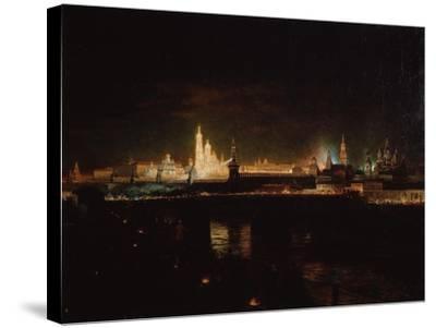 Illumination of the Moscow Kremlin, 1883-Oskar Adolfovich Hofman-Stretched Canvas Print