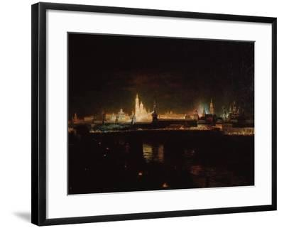 Illumination of the Moscow Kremlin, 1883-Oskar Adolfovich Hofman-Framed Giclee Print