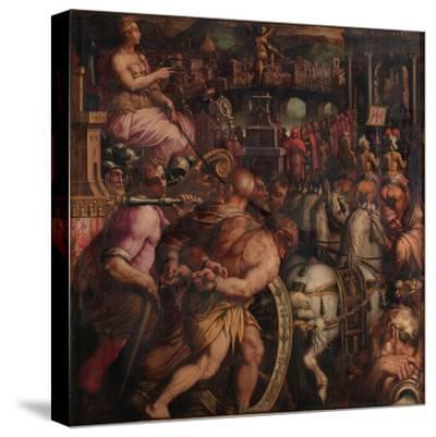 Triumph after the Victory of Pisa, 1563-1565-Giorgio Vasari-Stretched Canvas Print