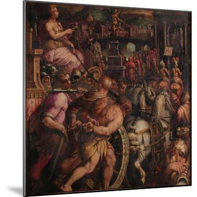 Triumph after the Victory of Pisa, 1563-1565-Giorgio Vasari-Mounted Giclee Print