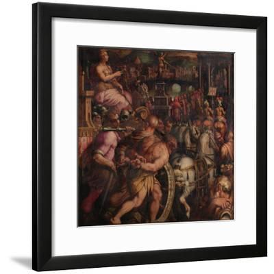 Triumph after the Victory of Pisa, 1563-1565-Giorgio Vasari-Framed Giclee Print
