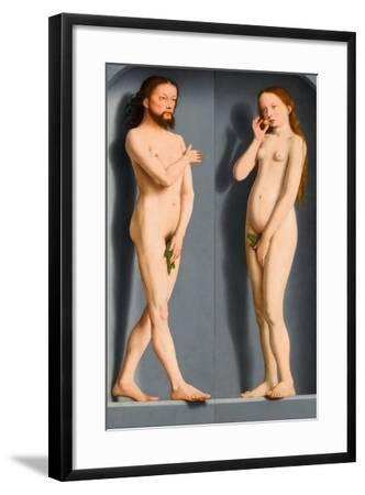 Adam and Eve (Sedano Family Triptych, Exterior Panel)-Gerard David-Framed Giclee Print