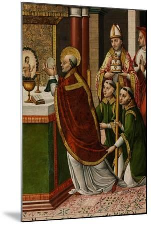 The Mass of Saint Gregory the Great--Mounted Giclee Print