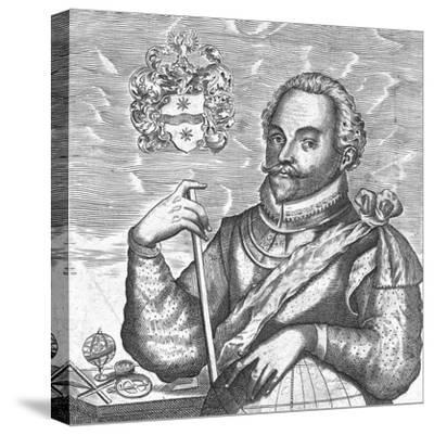 Portrait of Sir Francis Drake. (Frontispiece from the World Encompasse), 1628--Stretched Canvas Print