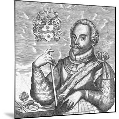 Portrait of Sir Francis Drake. (Frontispiece from the World Encompasse), 1628--Mounted Giclee Print