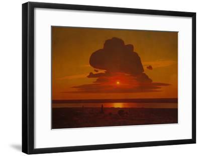 Red Sunset on the Dnieper, 1905-1908-Arkhip Ivanovich Kuindzhi-Framed Giclee Print