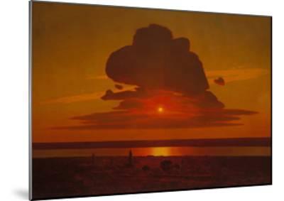 Red Sunset on the Dnieper, 1905-1908-Arkhip Ivanovich Kuindzhi-Mounted Giclee Print