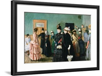 Albertine at the Police Doctor's Waiting Room-Christian Krohg-Framed Giclee Print