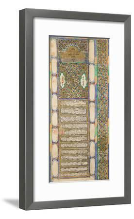 Ketubah (Jewish Marriage Contract), 1885--Framed Giclee Print