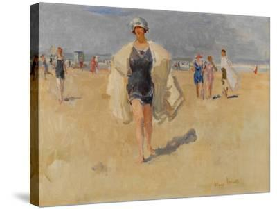 Lady on the Beach at Viareggio-Isaac Isra?ls-Stretched Canvas Print