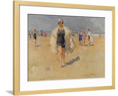 Lady on the Beach at Viareggio-Isaac Isra?ls-Framed Giclee Print