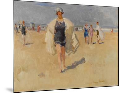 Lady on the Beach at Viareggio-Isaac Isra?ls-Mounted Giclee Print