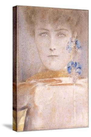 White Mask-Fernand Khnopff-Stretched Canvas Print