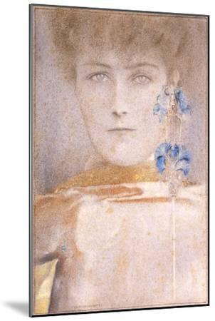White Mask-Fernand Khnopff-Mounted Giclee Print