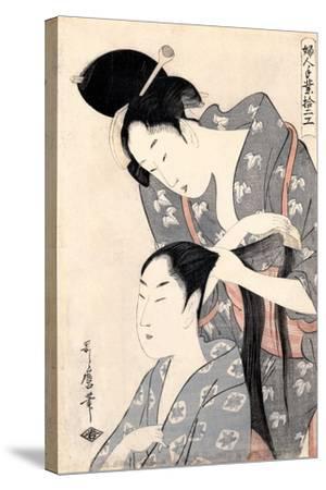 Hairdresser (Kamiyu), C. 1798-Kitagawa Utamaro-Stretched Canvas Print