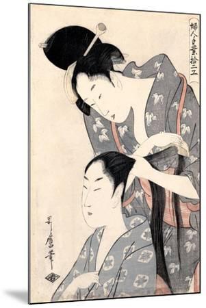 Hairdresser (Kamiyu), C. 1798-Kitagawa Utamaro-Mounted Giclee Print