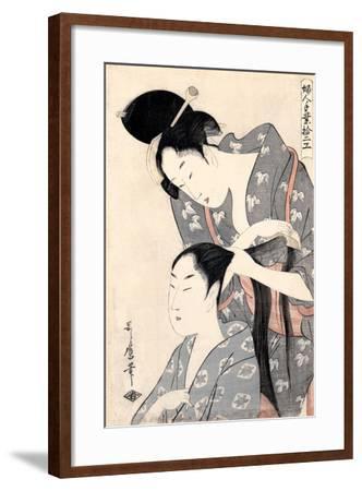 Hairdresser (Kamiyu), C. 1798-Kitagawa Utamaro-Framed Giclee Print