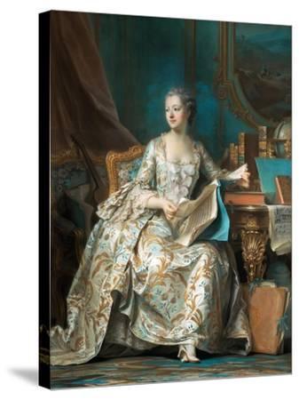 Portrait of the Marquise De Pompadour (1721-176)-Maurice Quentin de La Tour-Stretched Canvas Print