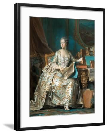 Portrait of the Marquise De Pompadour (1721-176)-Maurice Quentin de La Tour-Framed Giclee Print
