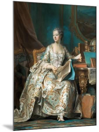 Portrait of the Marquise De Pompadour (1721-176)-Maurice Quentin de La Tour-Mounted Giclee Print