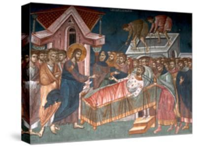 The Healing the Paralytic at Capernaum, Ca 1350--Stretched Canvas Print