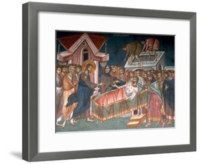 The Healing the Paralytic at Capernaum, Ca 1350--Framed Giclee Print