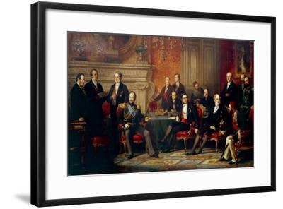 The Congress of Paris in 1856-Édouard Louis Dubufe-Framed Giclee Print