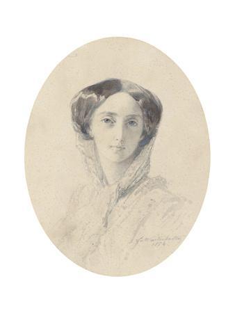 Portrait of Grand Duchess Olga Nikolaevna of Russia (1822-189), Queen of Württemberg-Franz Xaver Winterhalter-Framed Giclee Print