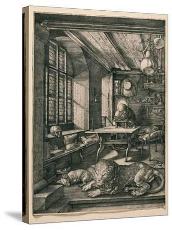 Saint Jerome in His Cell-Albrecht D?rer-Stretched Canvas Print