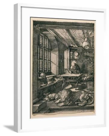 Saint Jerome in His Cell-Albrecht D?rer-Framed Giclee Print