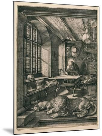 Saint Jerome in His Cell-Albrecht D?rer-Mounted Giclee Print