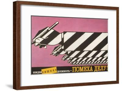 Every Superfluous Official Holds Up Work, 1988-Igor Pilishenko-Framed Giclee Print