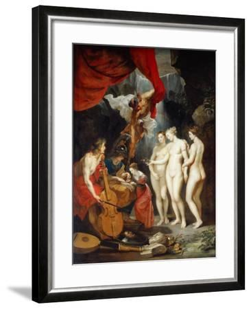 The Education of the Princess. (The Marie De' Medici Cycl)-Peter Paul Rubens-Framed Giclee Print