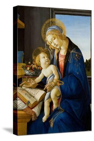 Madonna of the Book (Madonna Del Libr), 1480-Sandro Botticelli-Stretched Canvas Print