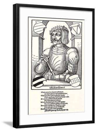 Portrait of Ulrich Von Hutten (1488-152)-Erhard Schoen-Framed Giclee Print