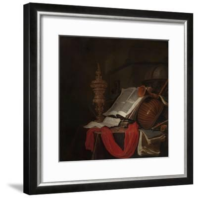 Still Life with Musical Instruments and Books-Jan Vermeulen-Framed Giclee Print