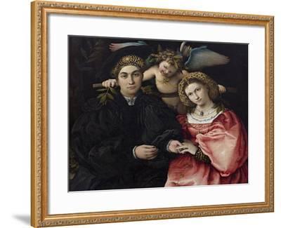 Portrait of Marsilio Cassotti and His Bride Faustina-Lorenzo Lotto-Framed Giclee Print