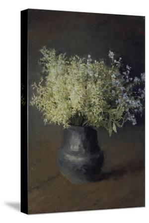 Wild Violets and Forget-Me-Nots, 1889-Isaak Ilyich Levitan-Stretched Canvas Print