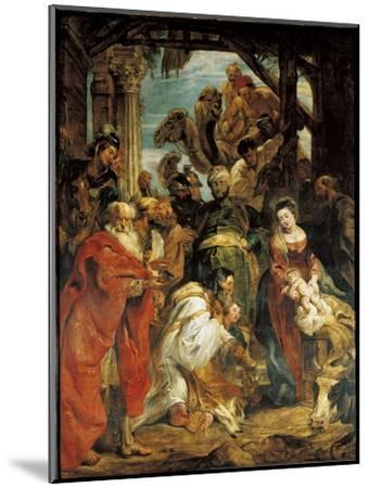 The Adoration of the Magi, 1624-Peter Paul Rubens-Mounted Giclee Print