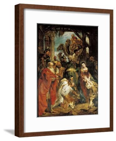 The Adoration of the Magi, 1624-Peter Paul Rubens-Framed Giclee Print