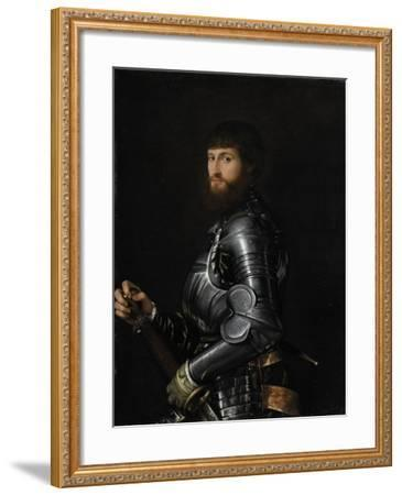 Portrait of a Nobleman in Armour, Between 1540 and 1560-Giovan Battista Moroni-Framed Giclee Print