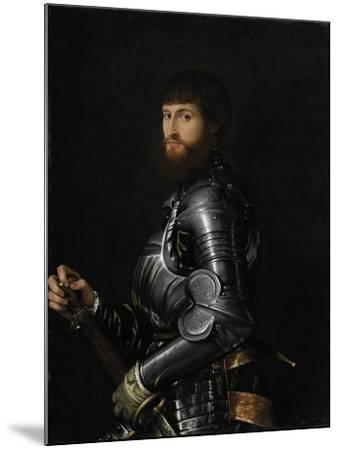 Portrait of a Nobleman in Armour, Between 1540 and 1560-Giovan Battista Moroni-Mounted Giclee Print