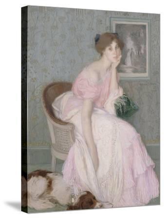 Miss Ella Carmichael-Edmond François Aman-Jean-Stretched Canvas Print