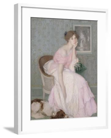 Miss Ella Carmichael-Edmond François Aman-Jean-Framed Giclee Print