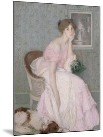 Miss Ella Carmichael-Edmond François Aman-Jean-Mounted Giclee Print