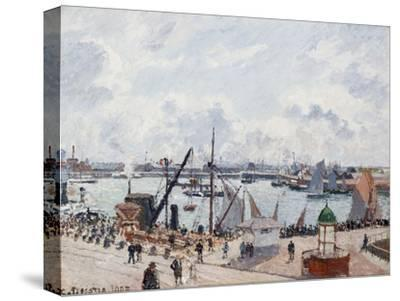 The Outer Harbour of Le Havre, Morning Sun-Camille Pissarro-Stretched Canvas Print