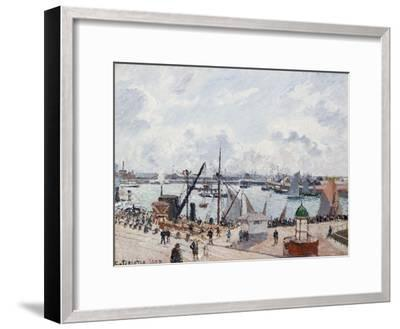 The Outer Harbour of Le Havre, Morning Sun-Camille Pissarro-Framed Giclee Print