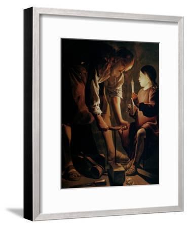 Saint Joseph, the Carpenter-Georges de La Tour-Framed Giclee Print